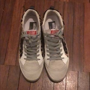 Golden Goose Shoes - Golden goose leopard mid star sneakers size 38